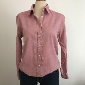 Marks & Spender White & Pink Button Down Shirt